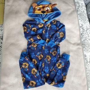 Nickelodeon Blue Fleece Zippered Pajama Sz 3